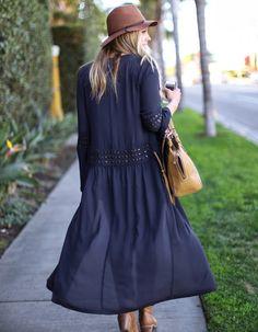 Stylish Women Casual Long Sleeve Bohemian Style Long Chiffon Blouse Cardigan Top Coat  $7.37