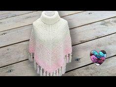CONCOURS! Poncho degradé au crochet toutes tailles - YouTube