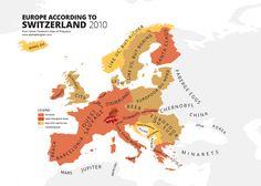 Europe According to Switzerland Print | Alphadesigner Art Store