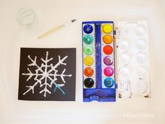 Salt painting - colorful ice crystals from salt - MontiMinis - Art Ideas Salt Painting, Ice Crystals, Triangle, Presents, Frame, Montessori, Color, Girl Hairstyles, Art Ideas