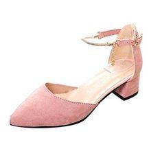 Oferta: 17.25€. Comprar Ofertas de Zapatos mujer tacon, Culater Sandalias de tacón ancho (35, Rosa) barato. ¡Mira las ofertas!