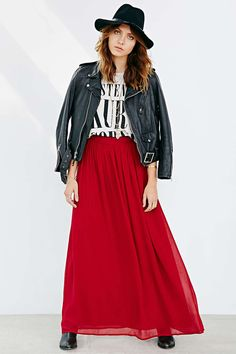 Pins And Needles Yoke Chiffon Maxi Skirt. in *possibly* the right length for me! so go figure it's $80.