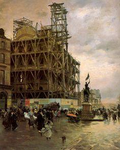 La Place des Pyramides - Giuseppe de Nittis  1875