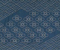 section of sashiko stitched throw rug by Alderspring Design, via Flickr