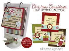 Two DIY Christmas Countdown Advent Calendars
