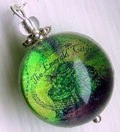 Silver Bubble Charm Emerald City Map Wicked The Musical