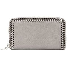 Stella McCartney 'Falabella' grailed wallet (€315) ❤ liked on Polyvore featuring bags, wallets, grey, logo bags, grey bag, snap closure wallet, stella mccartney wallet and stella mccartney bag