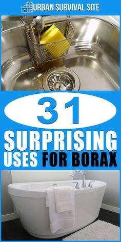 One box of borax can be used to clean almost anything around the house and it takes up very little space, leaving you room to store more important things. Borax Cleaning, Household Cleaning Tips, Homemade Cleaning Products, Deep Cleaning Tips, Cleaning Recipes, House Cleaning Tips, Natural Cleaning Products, Cleaning Solutions, Spring Cleaning