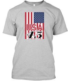 Usa 4 5 Light Steel T-Shirt Front