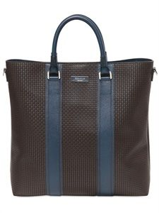 SERAPIAN - RESIN EMBOSSED LEATHER TOTE BAG - LUISAVIAROMA