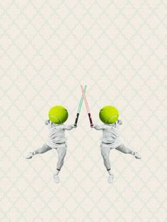 """Saatchi Art Artist Jaume Serra Cantallops; Collage, """"McEnroe Fighting Against Himself"""" #art   Explore art inspired by Wes Anderson on Saatchi Art: http://www.saatchiart.com/art-collection/Photography-Painting-Collage/Inspired-by-Wes-Anderson/722504/109932/view"""