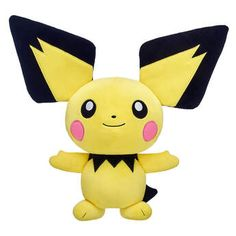 With its extra-large ears and pink cheeks, this Pichu plush bundle makes a small but powerful addition to any Pokémon Trainer's lineup. Shop now at Build-A-Bear! Red Gift Box, Blue Gift, Valentines Day Teddy Bear, Powerful Pokemon, Funko Pop Dolls, Build A Bear, Pink Cheeks, Type Pokemon, Christmas Gift Box