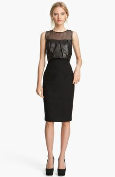 L'AGENCE Draped Leather Dress - this dress could inspire anyone to diet!