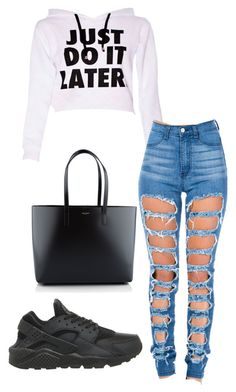 """""""Untitled #89"""" by katelynamber on Polyvore featuring NIKE and Yves Saint Laurent"""