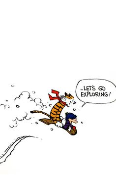calvin and hobbes exploring - Google Search