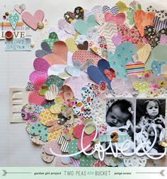 #papercraft #scrapbook #layout  another gorgeous Paige Evans layout