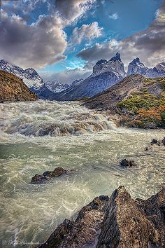 Above the Falls, Torres del Paine National Park, Chile