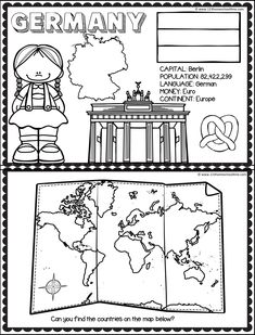 Animal Coloring Pages, Colouring Pages, Educational Activities, Preschool Activities, Kindergarten Colors, School Coloring Pages, Countries And Flags, Social Studies Worksheets, Maps For Kids