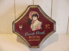 Toffee vintage Tin - Tin Dainty Dinah Horner