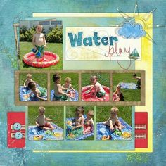 scrapbooking+ideas+on+playing | Water Play Scrapbooking Layout Idea