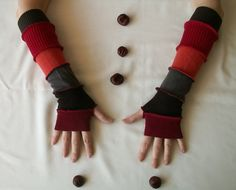 Arm Warmers Made From Upcycled Sweaters Man Teens Eco by annawoz, $25.00