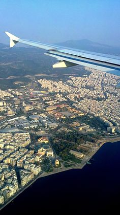 Thessaloniki from the sky! Thessaloniki, also known as Salonica, is the second-largest city in Greece and the capital of the region of Central Macedonia. Earth Photos, Greece Islands, Ancient Greece, Countries Of The World, Beautiful Islands, Athens, Airplane View, Greece Thessaloniki, Macedonia Greece
