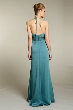 JLM Couture gown back view on model