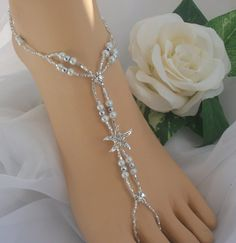 Starfish Wedding Barefoot Sandal Bridal Foot Jewelry Anklet   barefootjewelrybyangel - Wedding on ArtFire