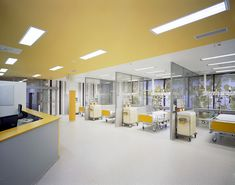 Gallery of Emergency Pavilion in Teaching Hospital / DOMY - 38 Emergency Pavilion in Teaching Hospital,© Andrea Thiel Lhotakova Healthcare Architecture, Healthcare Design, Emergency Hospital, Medical Office Design, Hospital Room, Hospital Design, Clinic Design, Clinique, Ceiling Design
