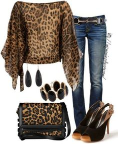 Cute Leopard Personally -the bag & shoes I would rock it