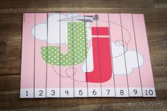 FREE Alphabet Number Puzzles. Great for teaching number order and work on number before and after.
