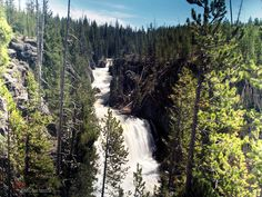Waterfalls - Kepler Cascades - The Waterfalls of Yellowstone National Park (Images and Map)