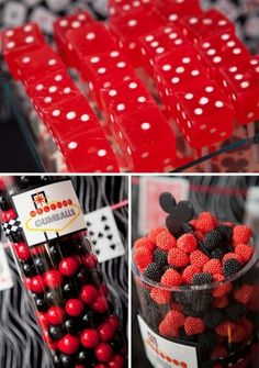 Casino Themed Party Candy Bar
