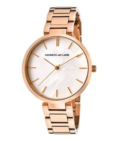 Mother-Of-Pearl & Rose Gold Stainless Steel Watch