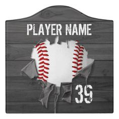 Shop Torn Baseball Door Sign created by eBrushDesign. Travel Baseball, Hotel Door, Baseball Pitching, Office Signs, Foam Adhesive, Classroom Door, Dry Erase Board, Room Signs, Acrylic Material