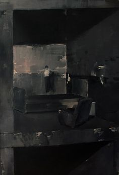 "Adrian Ghenie - ""Anxious to Jump"", 2007, oil on canvas, 118 X 79 cm. Photo: Nicodim Gallery"