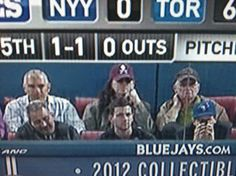 Geddy Lee at last night's Blue Jays game