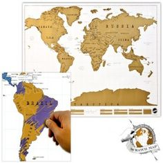 Scratch map. Perfect gift for someone going on away or someone who loves to travel.