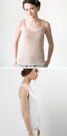 New Favorites: Tank sweater knitting patterns