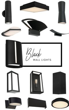 Wall lights are versatile and can be used in many locations around the home, to provide an extra layer of interest to your lighting scheme. Wall lights can also be used as well as or instead of ceiling lights. There is a very wide range of wall light fittings available to suit your taste and interior design style. Black Wall Lights, Ceiling Lights, Wall Light Fittings, Walls, Range, Suit, Exterior, Canning, Interior Design