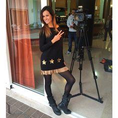 Michela Coppa wears Nico Abito Pepita easywear FW 2014/15  Find on: http://shop.pepitastyle.com/abitiecompleti/nico-abito.html#.VGB--jSG9Qg