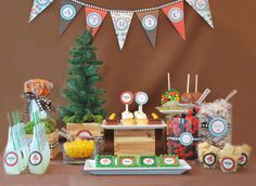 Woodland Forest Birthday Party Dessert Table - Dreamers Into Doers -- marthastewart.com