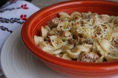 Orecchiette alla Norcina (pasta in a sausage, herb, and mushroom cream sauce)   Always Order Dessert