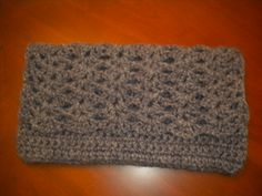 Final clutch, used a chunky yarn and Lion Brand Pattern # 90138AD.