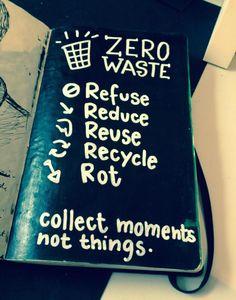 Zero Déchet - Dans l'ordre : Refuse, Réduit, Réutilise, Recycle, Composte