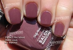 Sally Hansen SM- Plum's the Word. I'm like obsessed with this colour. I don't even own it.