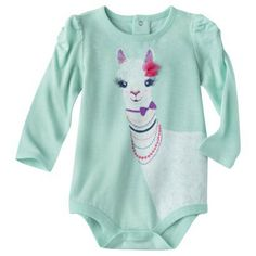 Cherokee® Infant Girls' Long-sleeve Bodysuit - Green