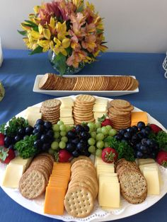 Ideas Fruit Party Platters For 2019 Fruit Party, Snacks Für Party, Appetizers For Party, Appetizer Recipes, Fruit Appetizers, Appetizer Ideas, Parties Food, Cheese Appetizers, Wine Parties