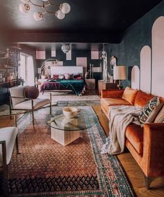 Retro Interior Design, Interior Design Boards, Home Decor Furniture, Home Decor Bedroom, Bedroom Themes, Mcm House, Apartment Living, Apartment View, Home And Deco