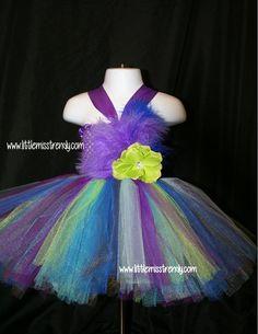 Peacock Tutu Dress, Tutu Dress, Newborn to 6T Tutu Dress, Peacock